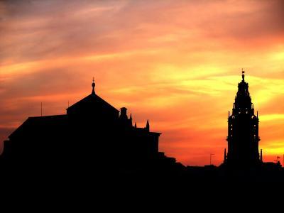 Puesta de sol tras la mezquita