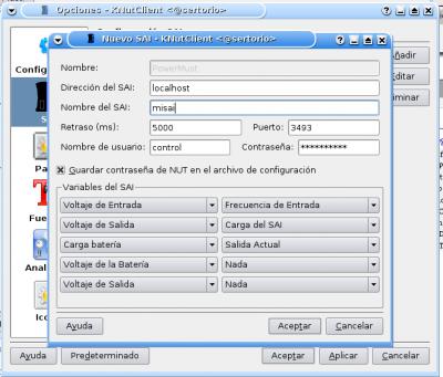 Configuración de KNutClient