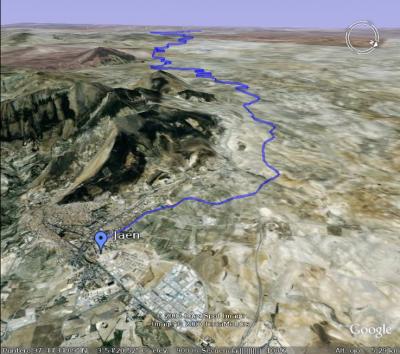 Vista del recorrido desde Jaén