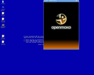 Captura de OpenMoko en QEMU