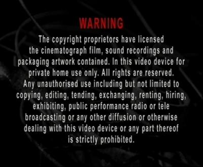 La advertencia legal, en inglés, claro