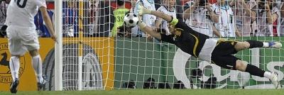 Casillas para uno de los penalties