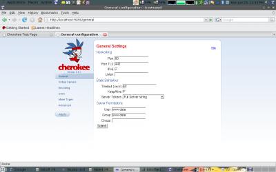 Herramienta de configuración de Cherokee