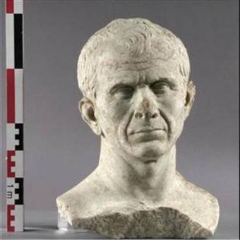 Supuesto busto de César, encontrado en el Ródano, que sería el más antiguo conocido