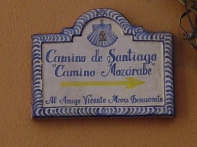 Azulejo del Camino Mozárabe en Granada