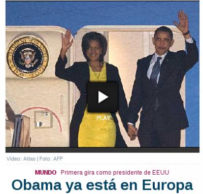 Obama y su mujer, zombis