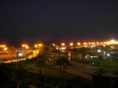 Noche en la costa de Málaga