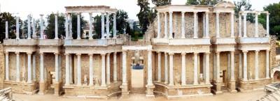Imagen panorámica del Teatro Romano de Mérida