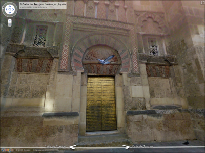 Vuelo de paloma ante la Mezquita
