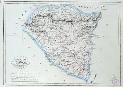 Mapa de Córdoba de 1853