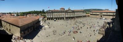 Panorámica de la Plaza del Obradoiro
