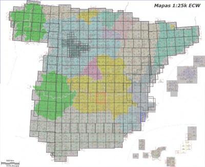 Mapa de topografía de España