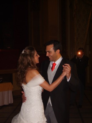 Rafa y María en el baile de honor