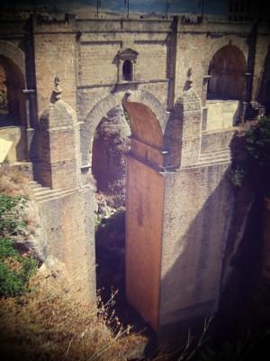 Puente Nuevo, Ronda, con efecto de lomografía