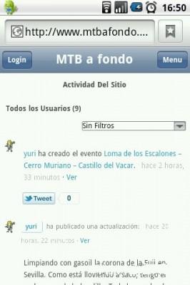 Captura de pantalla de MTB a Fondo en un Android