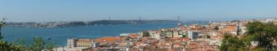 Panorámica de Lisboa desde el Castillo de San Jorge