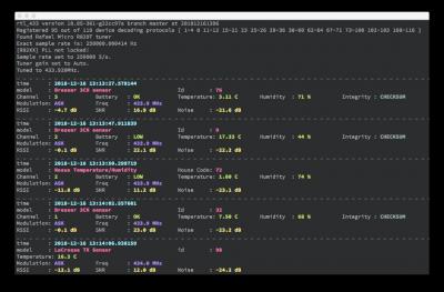 Captura de pantalla de rtl_433 capturando tráfico