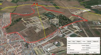 Vista en Google Earth de la prueba del 3 de mayo