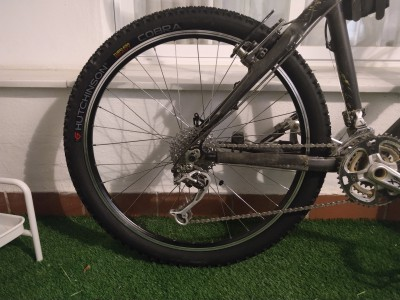 Nueva rueda trasera