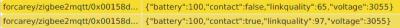 Eventos registrados en servidor MQTT