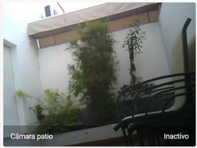 ESP32-CAM integrada con HomeAssistant. Vista de mi patio