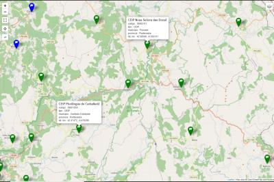 CEIPS y CPIs en las cercanías de Forcarey