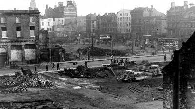 WORLD WAR II: BELFAST AIR RAIDS. BRIDGE STREET. 4/5 May. Bridge Street/High Street.